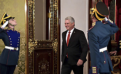 November 2, 2018 - Moscow, Russia - Cuban State Council Chairman Miguel Diaz-Canel Bermudez smiles as he arrives for a bilateral meeting with Russian President Vladimir Putin at the Kremlin November 2, 2018 in Moscow, Russia. (Credit Image: © Kremlin Pool via ZUMA Wire)