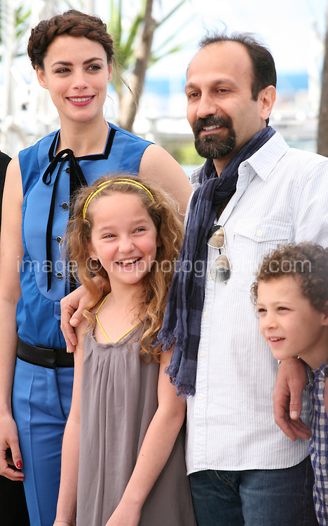 Bérénice Bejo, Jeanne Jestin, Asghar Farhadi, Elyes Aguis, Le Passé (The Past) film photocall at the Cannes Film Festival 17th May 2013