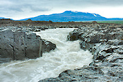 Iceland Kaldidalur River with rocks