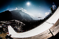 Ski jumper soaring through the air during Ski Flying Hill Men's Team Competition at Day 3 of FIS Ski Jumping World Cup Final 2017, on March 25, 2017 in Planica, Slovenia. Photo by Vid Ponikvar / Sportida