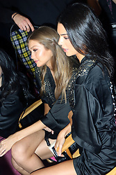 November 8, 2018 - New York, New York, United States - Models Gigi Hadid (L) and Kendall Jenner have their hair and make-up done prior to the Victoria's Secret Rinway show on November 8 2018 in New York City  (Credit Image: © Philip Vaughan/Ace Pictures via ZUMA Press)