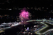 January 27-31, 2016: Daytona 24 hour: Daytona speedway at night during the fireworks