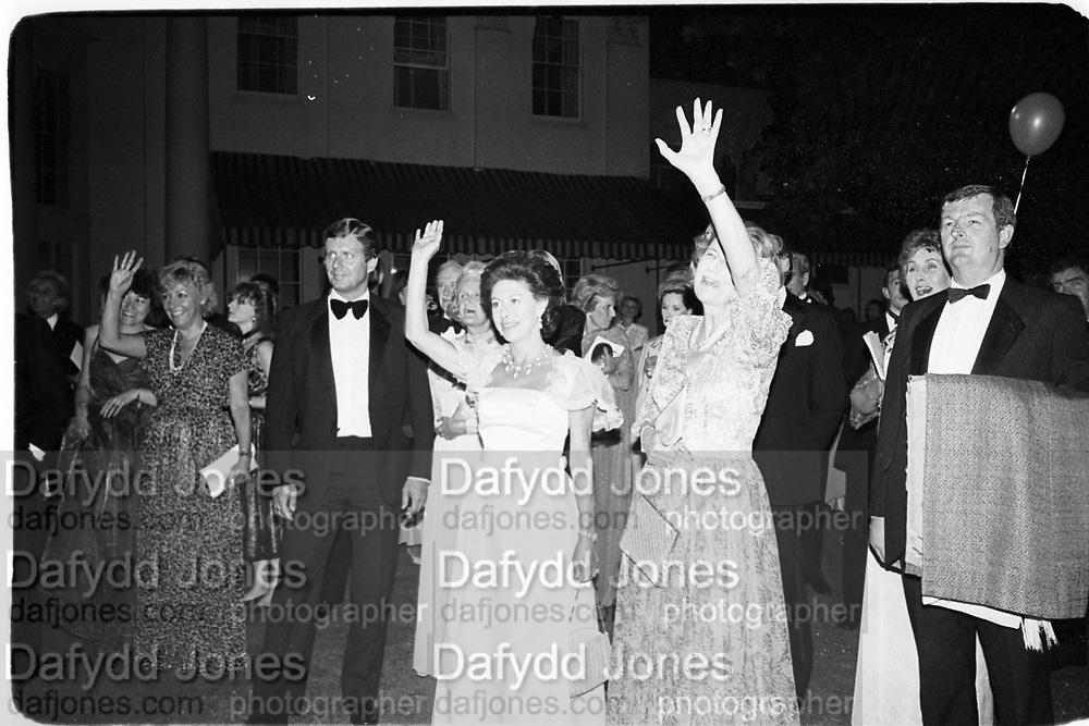 Princess Margaret and Duchess of Norfolk, Leukemia Ball, Hurlingham 15.7.85© Copyright Photograph by Dafydd Jones 66 Stockwell Park Rd. London SW9 0DA Tel 020 7733 0108 www.dafjones.com