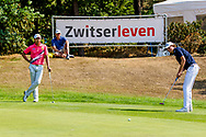 21-07-2018 Pictures of the final day of the Zwitserleven Dutch Junior Open at the Toxandria Golf Club in The Netherlands.  KAEWKANJANA, Sadom (TH) watching putt of VAN DER WEELE, Kiet (NL)