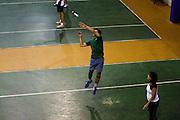 Belo Horizonte_MG, Brasil...Praticantes de Peteca no Minastenis Clube em Belo Horizonte, Minas Gerais...People are playing shuttlecock in Minastenis Clube in Belo Horizonte, Minas Gerais...Foto: LEO DRUMOND / NITRO