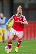 Leonie Maier (Arsenal) during the Brighton and Hove Albion Women vs Arsenal Women, FA WSL Cup at The People's Pension Stadium, Crawley, England on 3 November 2019.