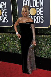 Mary J. Blige at the 75th Golden Globe Awards held at the Beverly Hilton in Beverly Hills, CA on January 7, 2018.<br /><br />(Photo by Sthanlee Mirador)