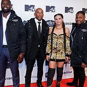 NLD/Amsterdam/20181029 - MTV pre party 2018, Famke Louise met beveiligers