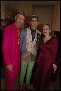ANDREW LOGAN; ANDRE BARTENEV; SASHA FROLOVA, Giovanni Batista Moroni, Royal Academy of Arts, Picadilly, London. 21 October 2014