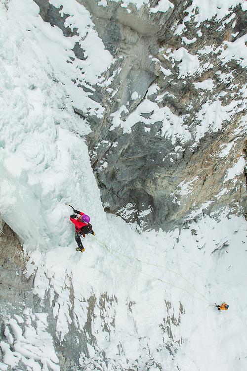 Veronica Ice Climbing Green Gully