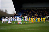 Oxford United and Peterborough United applaud prior to kick off during the EFL Sky Bet League 1 match between Oxford United and Peterborough United at the Kassam Stadium, Oxford, England on 16 February 2019.