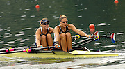 2006 FISA World Cup, Lucerne, SWITZERLAND, 08.07.2006. USA W2X bow Brett SICKLER and Susan FRANCIA,  Photo  Peter Spurrier/Intersport Images email images@intersport-images.com....[Mandatory Credit Peter Spurrier/Intersport Images... Rowing Course, Lake Rottsee, Lucerne, SWITZERLAND.