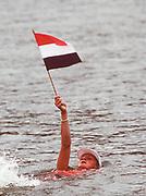 Atlanta, Georgia, USA, Olympic Rowing Regatta Lake Lanier,  Eeke van Nes from the Dutch Wowen's Silver  medal boat,, , [Mandatory Credit Peter Spurrier/ Intersport Images]