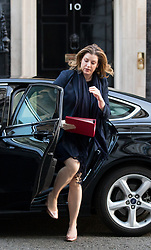 © Licensed to London News Pictures. 30/01/2018. London, UK. International Development Secretary Penny Mordaunt arriving in Downing Street to attend a Cabinet meeting this morning. Photo credit : Tom Nicholson/LNP