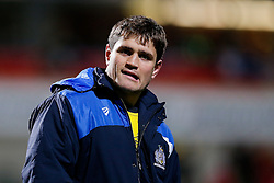 Bristol Rugby replacement James Stephenson looks on - Mandatory byline: Rogan Thomson/JMP - 13/11/2015 - RUGBY UNION - Kingspan Stadium - Belfast, Northern Ireland - Ulster Ravens v Bristol Rugby - The British & Irish Cup Pool 2.