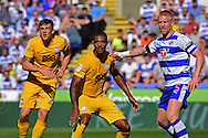 Reading defender Paul McShane (5) marks Preston North End forward Jermaine Beckford (10) and Preston North End forward Jordan Hugill (25) during the EFL Sky Bet Championship match between Reading and Preston North End at the Madejski Stadium, Reading, England on 6 August 2016. Photo by Jon Bromley.