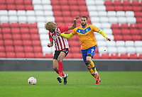 Football - 2020 / 2021 FA Cup - Round One - Sunderland vs Mansfield Town - Stadium of Light<br /> <br /> Jordan Bowery of Mansfield Town vies with Dion Sanderson of Sunderland<br /> <br /> <br /> COLORSPORT/BRUCE WHITE