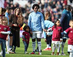 West Ham United's Carlos Sanchez during an end of season lap of honour