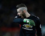 David De Gea of Manchester United during the English Premier League match at Old Trafford Stadium, Manchester. Picture date: April 4th 2017. Pic credit should read: Simon Bellis/Sportimage