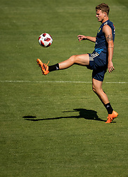 July 4, 2018 - Gelendzhik, Russia - 180704 Oscar Hiljemark of the Swedish national football team at a practice session during the FIFA World Cup on July 4, 2018 in Gelendzhik..Photo: Petter Arvidson / BILDBYRN / kod PA / 92081 (Credit Image: © Petter Arvidson/Bildbyran via ZUMA Press)