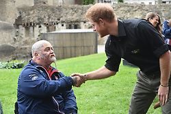 May 30, 2017 - London, London, United Kingdom - Image licensed to i-Images Picture Agency. 30/05/2017. London, United Kingdom. .Prince Harry with the team of injured military personnel picked to represent  the UK at the 2017 Invictus Games in Toronto, Canada,  at the launch of the team at the Tower of London.   Picture by ROTA  / i-Images  UK OUT FOR 28 DAYS (Credit Image: © Rota/i-Images via ZUMA Press)