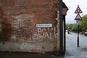 Resist immigration stings graffiti in Birmingham, United Kingdom.