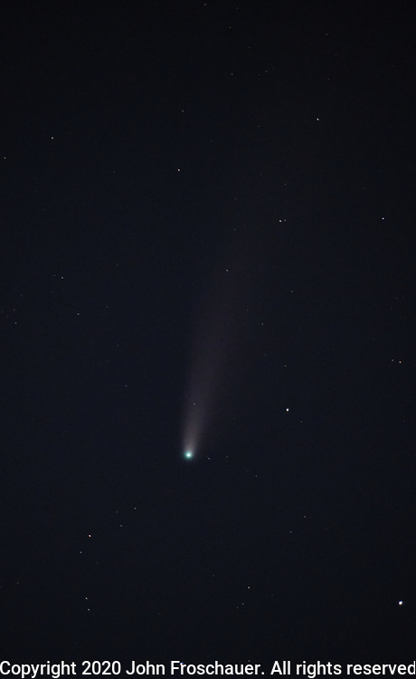 Neowise Comet seen in the sky, Saturday, July 18, 2020, in Tacoma. (Photo/John Froschauer)