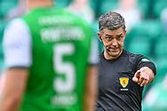 Referee Greg Aitken during the SPFL Premiership match between Hibernian and St Johnstone at Easter Road Stadium, Edinburgh, Scotland on 1 May 2021.