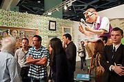 TONY SHAFRAZI; BERNIE CHASE, Vernissage. Opening of Art Basel Miami Beach. Convention Centre.  Miami Beach. 30 November 2010. -DO NOT ARCHIVE-© Copyright Photograph by Dafydd Jones. 248 Clapham Rd. London SW9 0PZ. Tel 0207 820 0771. www.dafjones.com.