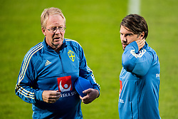 September 5, 2018 - Wien, Austria - 180905 Scout Lars Jacobsson and psychological counselor Daniel Ekvall of the Swedish national football team at a practice session on 5 September 2018 in Wien..Photo: Petter Arvidson / BILDBYRN / kod PA / 92089 (Credit Image: © Petter Arvidson/Bildbyran via ZUMA Press)