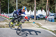 #33 (DAUDET Joris) FRA during practice at Round 5 of the 2018 UCI BMX Superscross World Cup in Zolder, Belgium