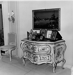 Interior shots of Aristotle Onassis's yacht Christina photographed in 1956.<br /> Picture shows Mr Onassis' bedbroom furnised with antique Venetian drawers.  <br /> <br /> <br /> NON EXCLUSIVE - WORLD RIGHTS
