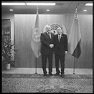 President of Belarus, Alyaksandr Lukashenka, with United Nations Secretary General Ban Ki moon.