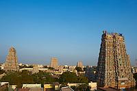 Inde, etat du Tamil Nadu, Madurai, temple Sri Meenakshi // India, Tamil Nadu, Madurai, Sri Meenakshi temple