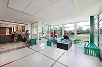 Architectural Interior of Maret School Athletic and Wellness Center in Washington DC by Jeffrey Sauers of Commercial Photographics