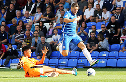 Conor Washington of Peterborough United skips past Colchester United's Alex Wynter - Mandatory byline: Joe Dent/JMP - 07966386802 - 15/08/2015 - FOOTBALL - ABAX Stadium -Peterborough,England - Peterborough United v Colchester United - Sky Bet League One
