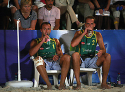 Dejan Matijasevic and Bojan Kristan (Kalcer & Alfa-M Team) at qualifications for 14th National Championship of Slovenia in Beach Volleyball and also 4th tournament of series TUSMOBIL LG presented by Nestea, on July 25, 2008, in Kranj, Slovenija. (Photo by Vid Ponikvar / Sportal Images)/ Sportida)