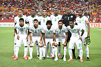 Fotball<br /> Asia Cup / Asiamesterskapet<br /> 10.01.2015<br /> Saudi Arabia v Kina<br /> Foto: imago/Digitalsport<br /> NORWAY ONLY<br /> <br /> Lagbilde Team Saudi Arabia pose for a group photo before the Group B match t the AFC Asian Cup in Brisbane, Jan. 10, 2015