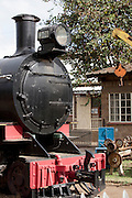 A locomotive at the railway museum in Nairobi, Kenya. The railway is rich with history, and integral in the development of the country after being colonised by the British in the 19th century
