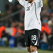 Austria's Umit KORKMAZ during their UEFA EURO 2012 Qualifying round Group A soccer match Turkey betwen Austria at Sukru Saracoglu stadium in Istanbul March 29, 2011. Photo by TURKPIX