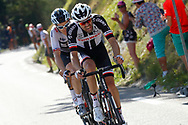 Tom Dumoulin (NED - Team Sunweb), Geraint Thomas (GBR - Team Sky) during the 105th Tour de France 2018, Stage 11, Alberville - La Rosiere Espace Bernardo (108,5 km) on July 18th, 2018 - Photo Luca Bettini / BettiniPhoto / ProSportsImages / DPPI