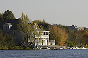 Boston, Massachusetts, USA. Riverside Boat Club's, Boat house, thur's afternoon,  19/10/2006,  on the Charles River, Preparing for the 2006 Head of the Charles,  Photo  Peter Spurrier/Intersport Images...[Mandatory Credit, Peter Spurier/ Intersport Images] Rowing Course; Charles River. Boston. USA