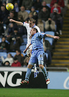 Photo: Lee Earle.<br /> Coventry City v Southend United. Coca Cola Championship. 30/12/2006. Coventry's Chris Birchall (R) clashes with Steve Hammell.
