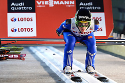 Poland, Wisla Malinka - 2017 November 18: Tilen Bartol from Slovenia competes during FIS Ski Jumping World Cup Wisla 2017/2018 - Day 1 at jumping hill of Adam Malysz on November 18, 2017 in Wisla Malinka, Poland.<br /> <br /> Mandatory credit:<br /> Photo by © Adam Nurkiewicz<br /> <br /> Adam Nurkiewicz declares that he has no rights to the image of people at the photographs of his authorship.<br /> <br /> Picture also available in RAW (NEF) or TIFF format on special request.<br /> <br /> Any editorial, commercial or promotional use requires written permission from the author of image.