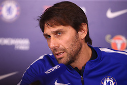 February 2, 2018 - London, England, United Kingdom - Antonio Conte, manager of Chelsea during a press conference at Cobham Training Ground on 02 Feb , 2018 in Cobham, England. (Credit Image: © Kieran Galvin/NurPhoto via ZUMA Press)