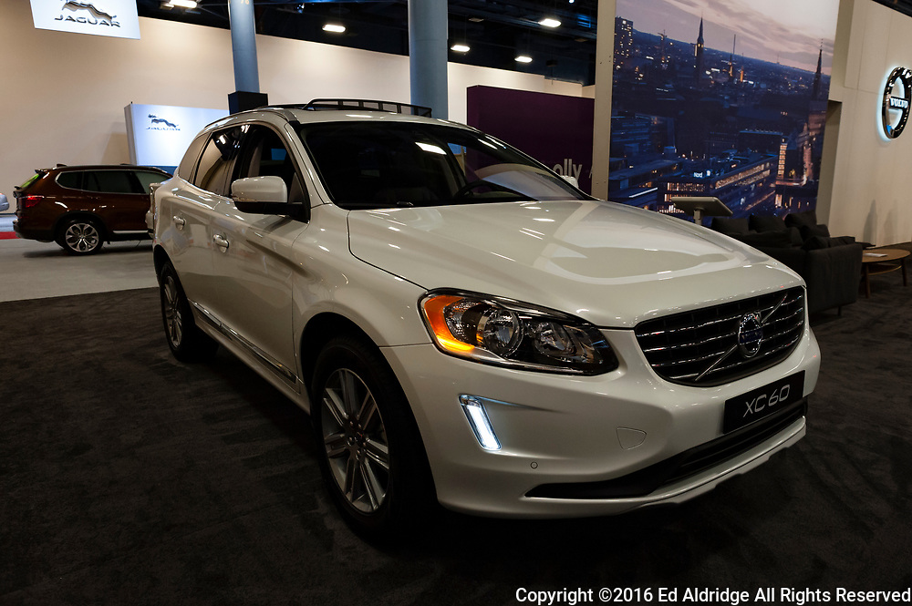 Miami, USA - September 10, 2016: Volvo XC60 T5 FWD SUV on display during the Miami International Auto Show at the Miami Beach Convention Center.