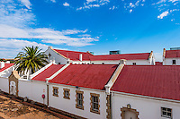 Constitution Hill was a jail that housed Mahatma Gandhi and Nelson Mandela and now is home to the Constitutional Court, Johannesburg, South Africa.
