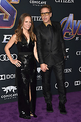 Susan Downey, Robert Downey Jr. attend the world premiere of Walt Disney Studios Motion Pictures 'Avengers: Endgame' at the Los Angeles Convention Center on April 22, 2019 in Los Angeles, CA, USA. Photo by Lionel Hahn/ABACAPRESS.COM