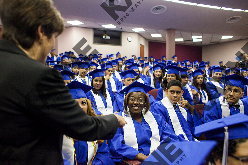 Aldine High School Graduation, June 7, 2014 in Houston at the M.O. Campbell Educational Center Arena.