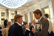 JAMIE EMMERSTON; BEN ELLIOTT,, Luxury Briefing Wealth Summit Conference drinks. Corinthia Hotel. Whitehall, London. 27 October 2011.<br /> <br />  , -DO NOT ARCHIVE-© Copyright Photograph by Dafydd Jones. 248 Clapham Rd. London SW9 0PZ. Tel 0207 820 0771. www.dafjones.com.